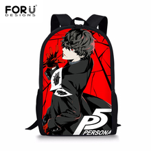 FORUDESIGNS Game Persona 5 Backpack Boys Children Schoolbag Joker Printing Primary School Daypack Travel Mens Shoulder Rucksack