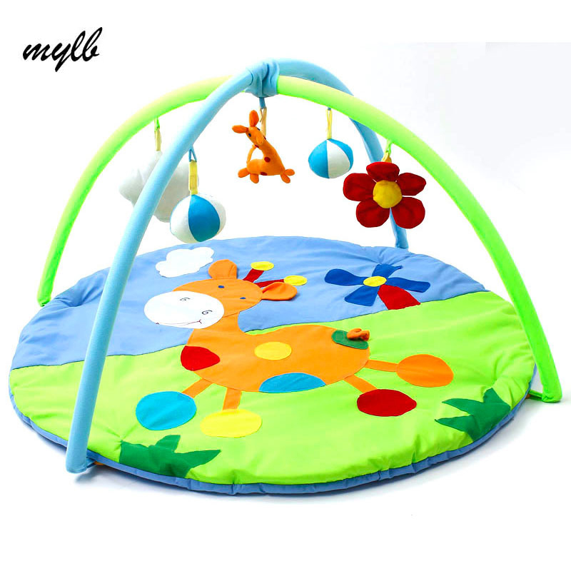 mylb Bear Baby Toy Baby Play Mat 0-1 Year Game Tapete Infantil Educational Crawling Mat Play Gym Cartoon Blanket Puzzle Carpet