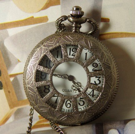 Generous Free Shipping Hot 1pcs/lot Mens Womens 4.5cm Face Telephone Design Silver Steampunk Pocket Watch Antique Rose Quartz Vintage Toy Pendants