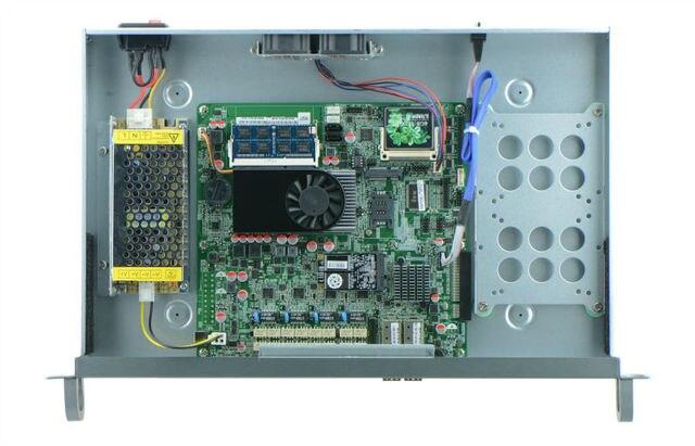 Intel celeron 1037u network security with SFP port 1U rackmountable hardware for firewall, VPN, router, etc 4 LAN 2 SFP