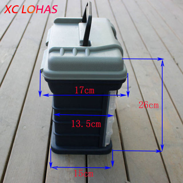 Big Fishing Tackle Box High Quality 27*17*26cm 5 Layer