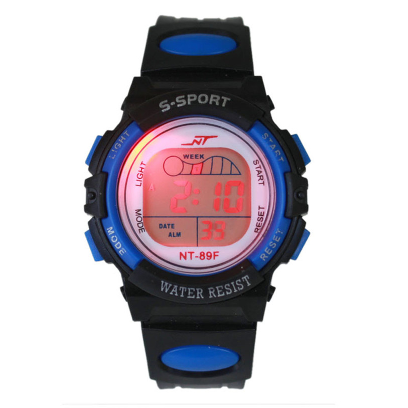 Hot 2017 New Superior Boy Girl Alarm Date Digital Multifunction Children Kids Sport LED Light Wrist Watch Students Relogio