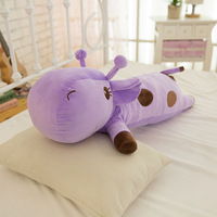 Plush Lie Giraffe Pillow Stuffed Deer Plush Toy Nap Pillow for home decoration