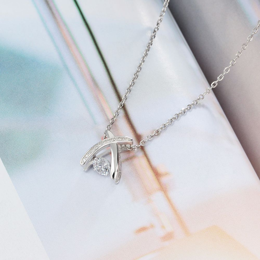 YSP17 women fine jewelry,letter X pendant with a zircon,925 sterling silver necklace for delicate lady недорго, оригинальная цена
