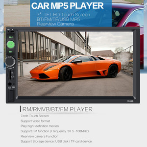 Image 5 - Centrale Multimidia 2Din 2 Din 7 Touch Screen Auto DVR Voor Achter Camera Bluetooth Radio Music Movie Player Multimedia autoradio