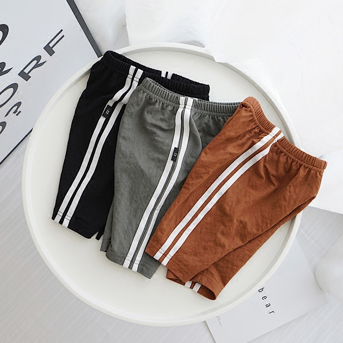 Boys children's clothing side two boys pants pants summer thin section wild children's baby pants купить в Москве 2019