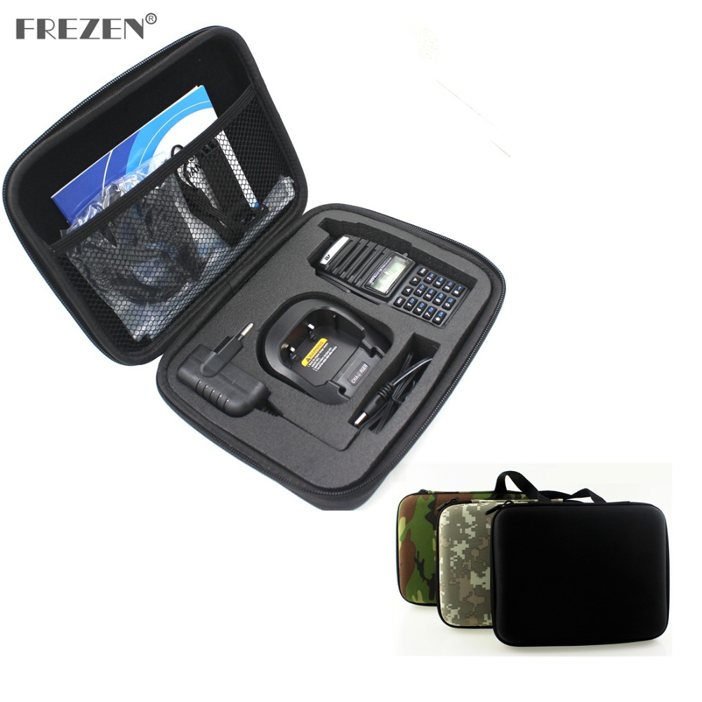 Handbag Storage Box/Bag Two Way Radio Hand Carring Case Bag For BAOFENG UV-82 UV-8D Motorola GP328 Walkie Talkie/Interphone
