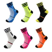 Высокое качество профессиональный бренд Велоспорт спортивные носки защитить ноги дышащий влагу задействуя Носки велосипеды Running Носки нескользящие носки спортивные женские носки мужские спортивные