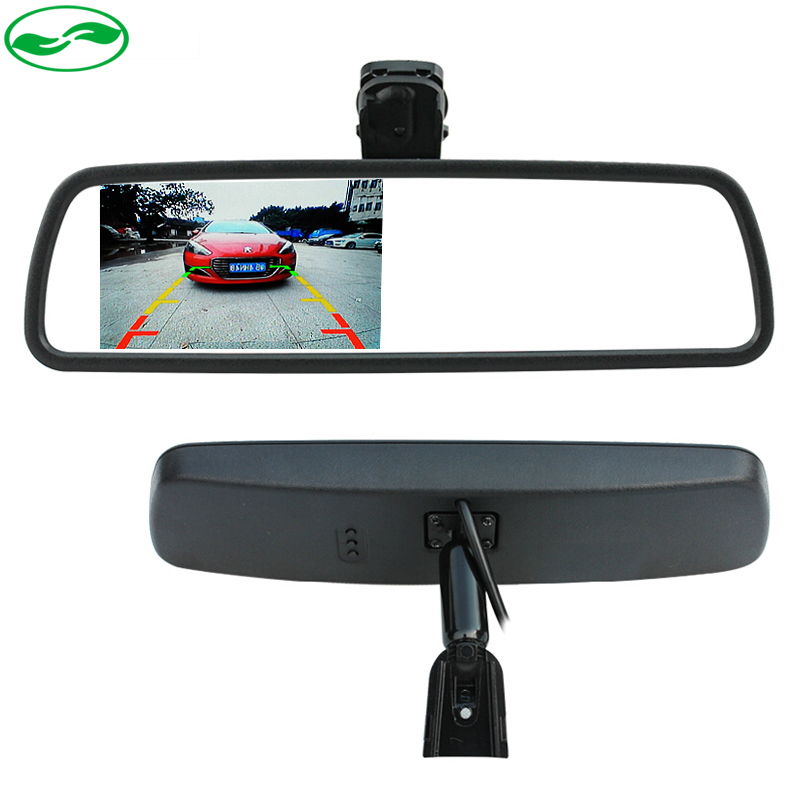 Free Shipping New 4 3 TFT LCD Special Car Rearview Mirror Monitor with Original Bracket Car