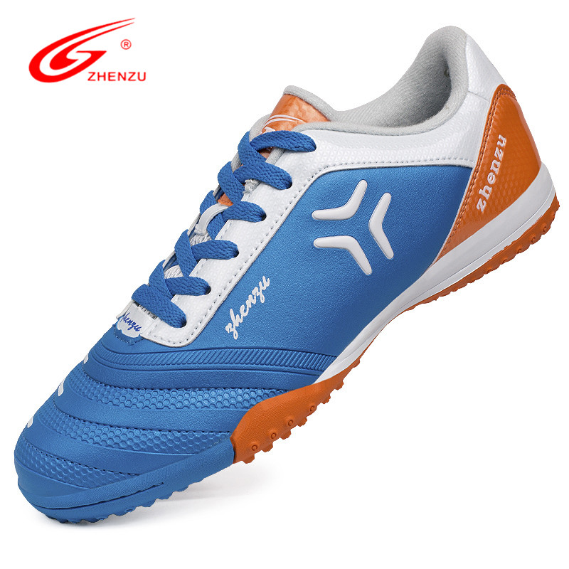 ZHENZU Wear-Resisting Rubber Football Shoes TF Turf Soccer Cleats Boots Light Sprots Shoes for Children/Boys Size 30-35 tiebao e1018c professional kids indoor football boots turf racing soccer boots training football shoes