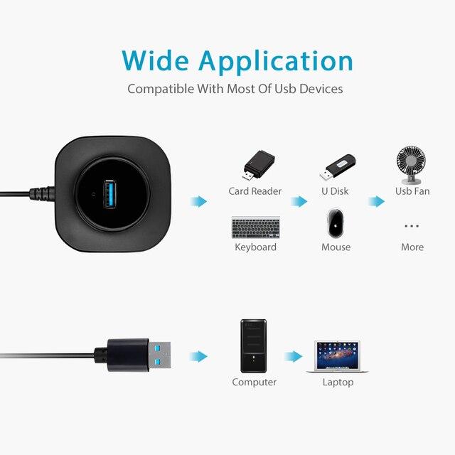 USB 3.0 HUB 2.0 Multi USB Splitter For PC Multiple USB 4 Port 2