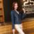 Del otoño del resorte de las mujeres chaqueta de mezclilla más el tamaño de manga larga del o-cuello corto chaqueta de jeans mujer denim capa de la manera mujeres clothing, hh0036