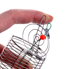 OOTDTY 1PC Small Bait Cage Fishing Trap Basket Feeder Holder Fishing Tackle Accessory Tool