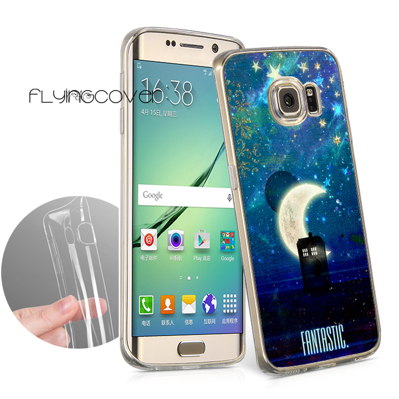 Coque Doctor Who Tardis Cases for Samsung Galaxy S9 S8 Plus S6 S7 Edge Plus Note 8 5 4 3 S3 S4 S5 Clear Soft TPU Silicone Cover.