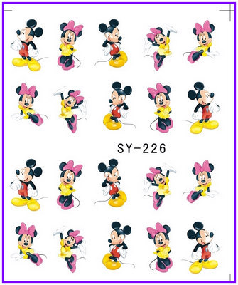 1X   Water  Stickers Nail Decals Stickers Water Transfers Decal  Cartoon  Minnie SY226 **BUY 3 GET 1 FREE**