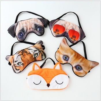 30 pcs sleep mask cartoon pajama party kids girls sleeping eyeshade 3D cute dog cat student use children birthday return gift