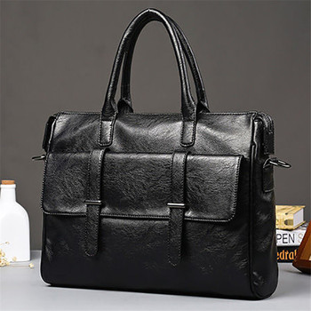 Mens shoulder bag, Split leather material, British fashion, casual style, high quality, multi-function, large-capacity design