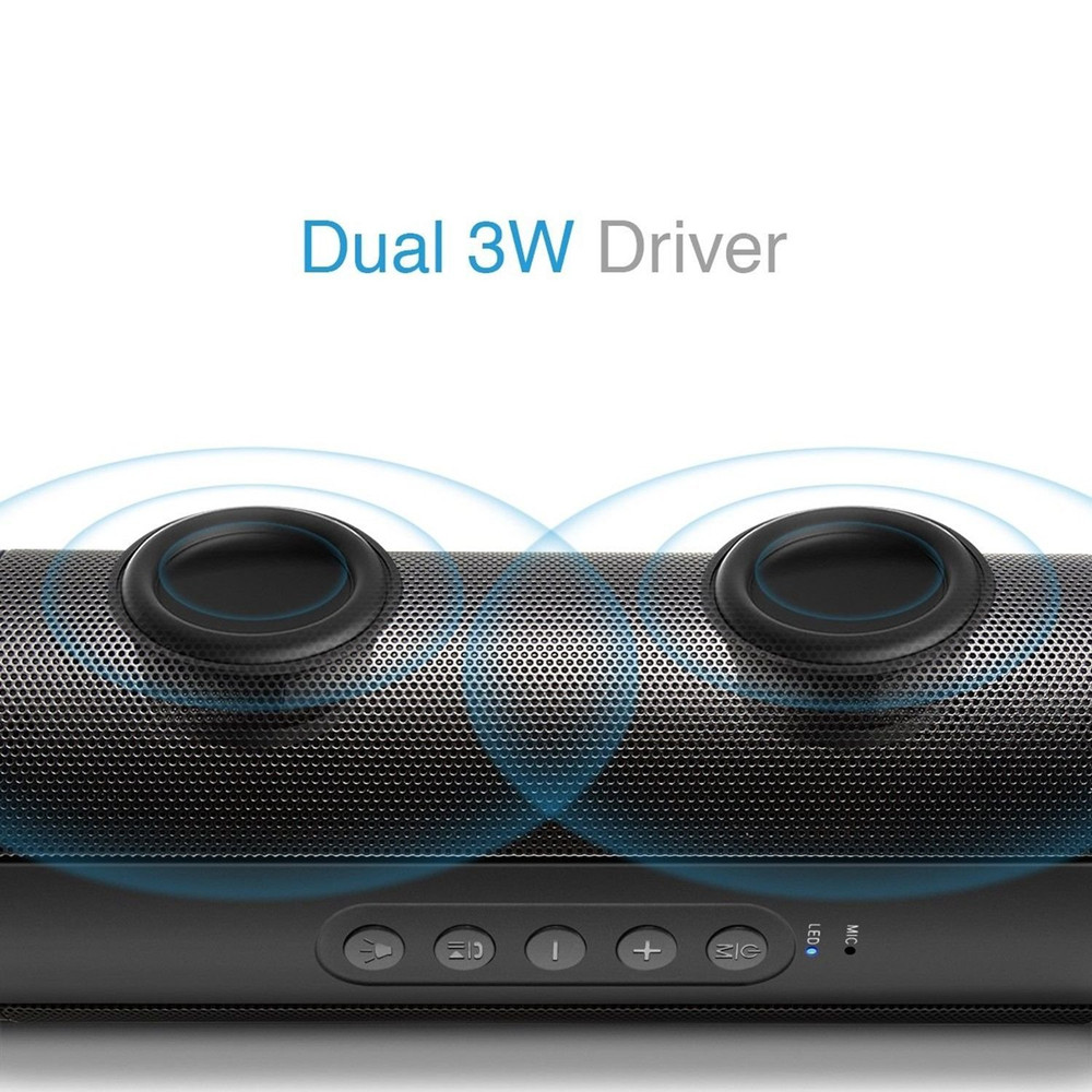 Image 5 - Waterproof Music Bass Bluetooth Speaker Outdoor Portable Led Wireless Column Loudspeakers Support TF Card FM Radio Aux Input-in Portable Speakers from Consumer Electronics