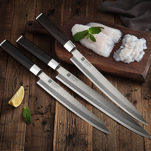 Ebony Handle, Stainless Steel, Sushi Knife.