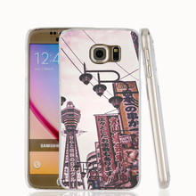 Phone Case with Japan City Scape for Samsung Galaxy S7 Edge Plus, S6, S5, S4, S3 Mini