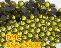 Ss6, ss10, ss16, ss20, olivino ss30 alta calidad DMC hierro en cristal Rhinestones / Rhinestones calientes cristalinos del arreglo