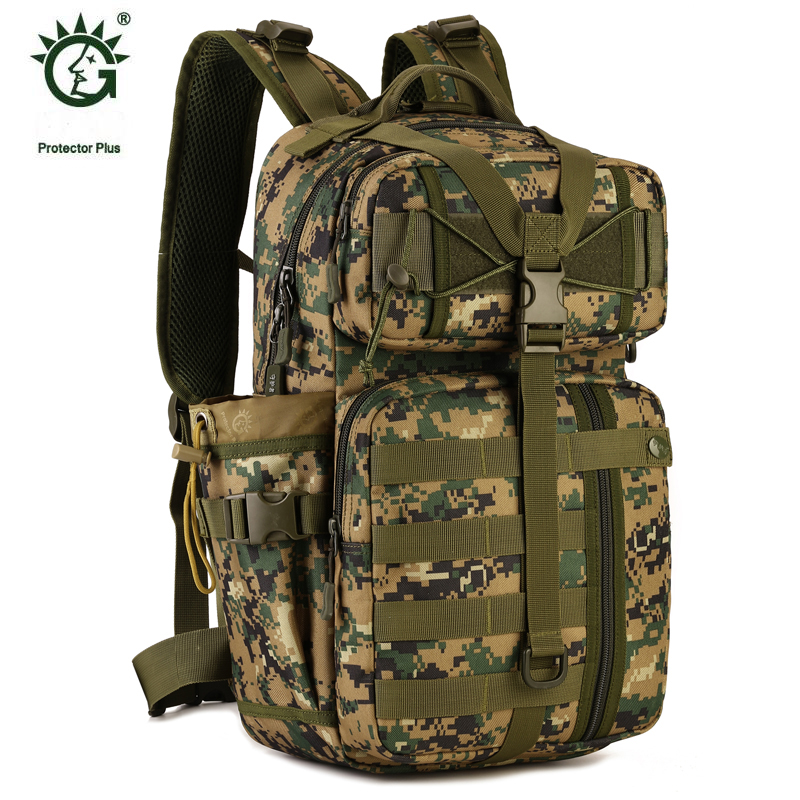 Famous Brand 30L Camouflage Military Molle Tactical Bag Backpack For Sports Outdoor Walking And Hiking Camping Backpacks Bags brand 30l unisex rucksack outdoor waterproof hiking walking backpacks bag for sports travel tourist camping backpack bags