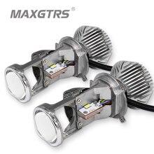 2 х 70 Вт H4 LHD светодиодный лампы без потерь светодиодный Conversion Kit Лампа Hi/Lo света фар с объектив Мини-проектора 12 V/24 V