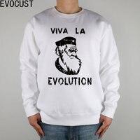 XSR PD Che Guevara Beret Darwin SCIENCE Men Sweatshirts Thick Combed Cotton