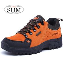 4 colors 2017 newest lace up hiking shoes women sneakers men sport shoes waterproof and non-slip trekking shoes men