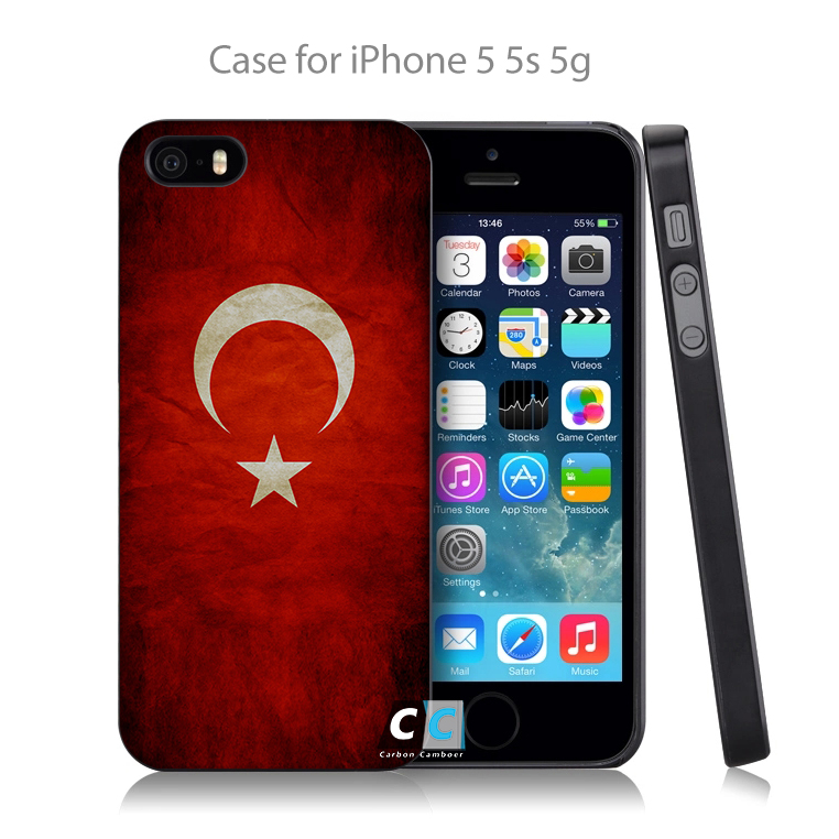 Turkey Grungy Flag Hard Black Case Cover Shell Coque for iPhone 4 4s 4g 5 5s 5g 5c 6 6g 6 Plus