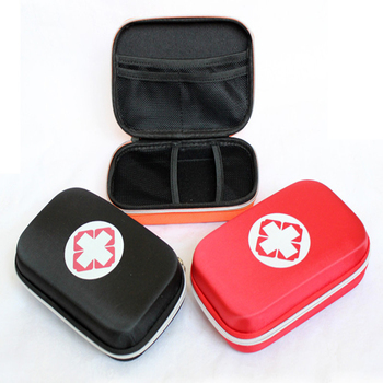 Black And Red Color First Aid Kits Portable 2