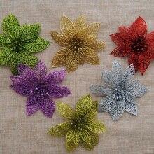 Flower Wedding Simulation Glitter Valentine's-Day-Decoration Christmas Plastic 15cm Hollow