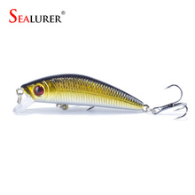 Sealurer Brand Lifelike Minnow Fishing Lure 7CM 8.5G 6# Hooks Fish Wobbler Tackle Crankbait Artificial Japan Hard Bait Swimbait