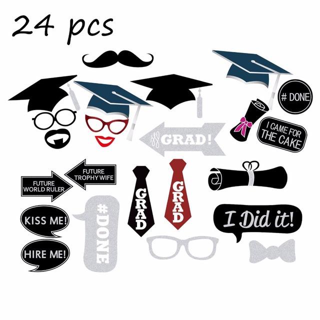 24 Pcs Graduation Party Set