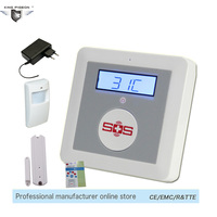 Home Alarm SOS Call Temperature Monitoring IOS Android APP Wireless GSM Safety Security Alarm System SMS