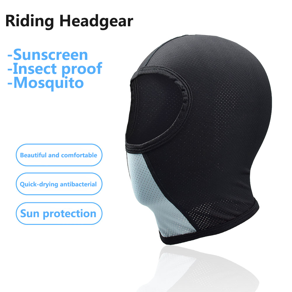 2019 Hot Motorcycle Face Mask Headgear Full Face Masks For Motorcycle Helmet Masque Black Breathable Quick Dry Anti-uv