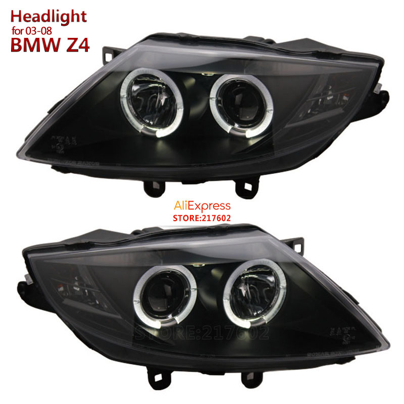 For Bmw Z4 E85 Angel Eye Projector Bi Xenon Lens