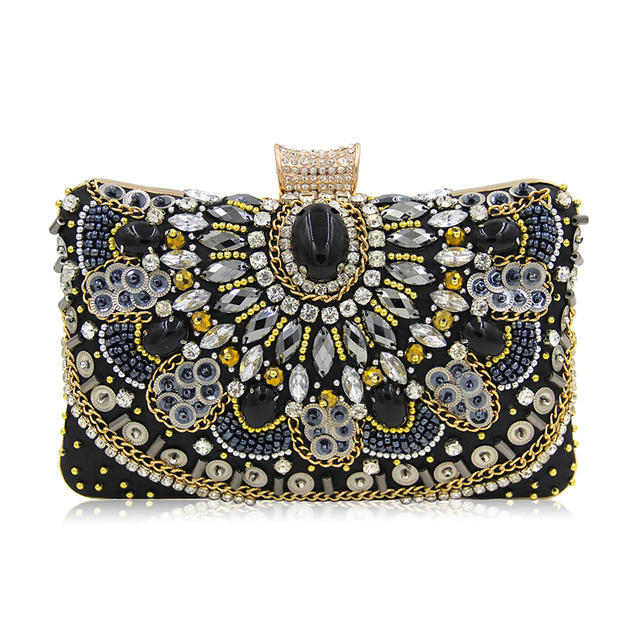 7731e970b7 Fashion Women Evening Clutch Bags New Design Gift Womens Crystal Rhinestone  Bag Banquet Lady Party Purse Shoulder Bag with Chain
