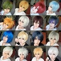 MCOSER NEW Style Short Layered Men Women Anime Fashion 16 Colors Cosplay Party Hair Wig