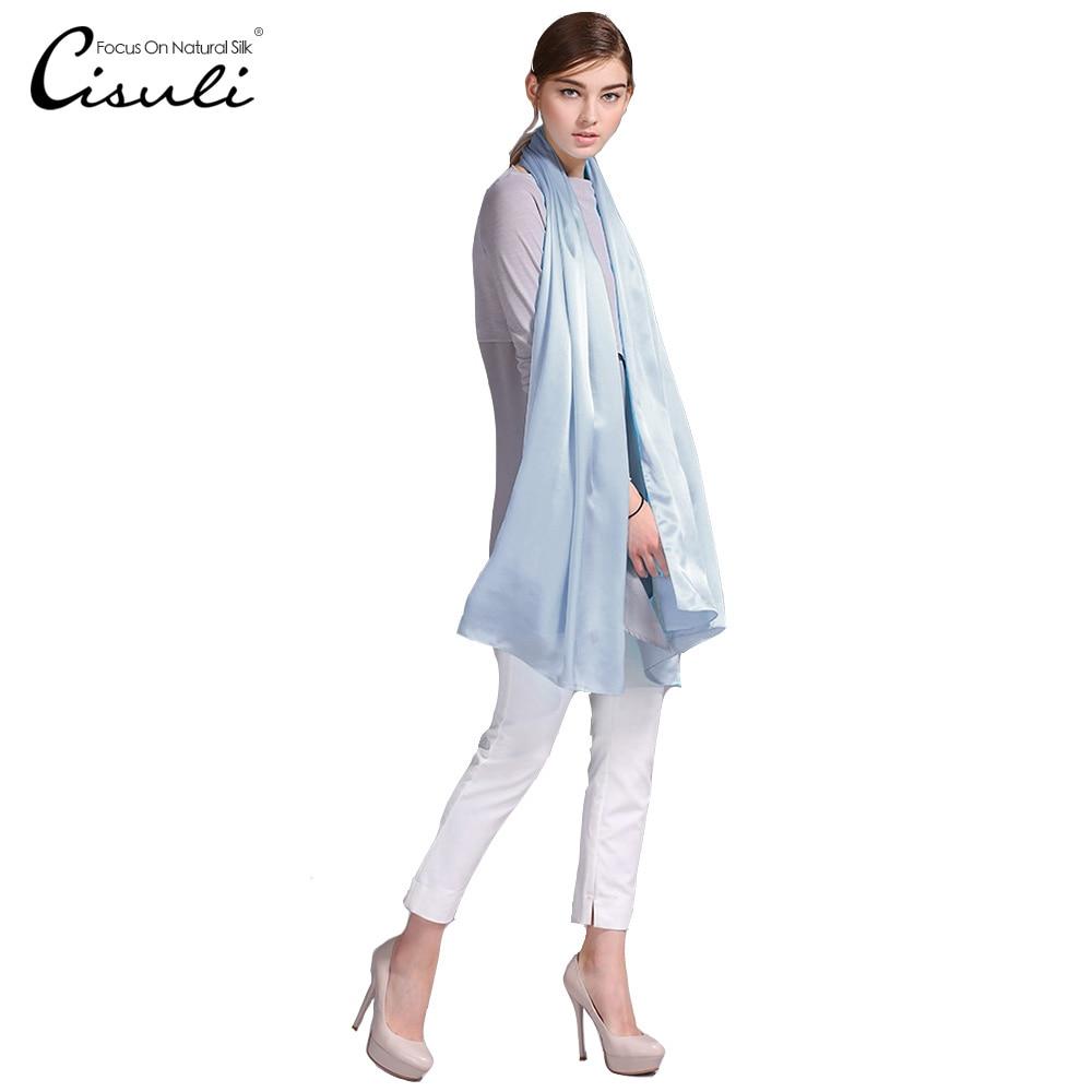 100% hedvábný saténový dlouhý šátek 55X180cm čistá morušová hedvábná hladká barva hedvábný šátek Factory Direct Online Store 48 Purple Blue