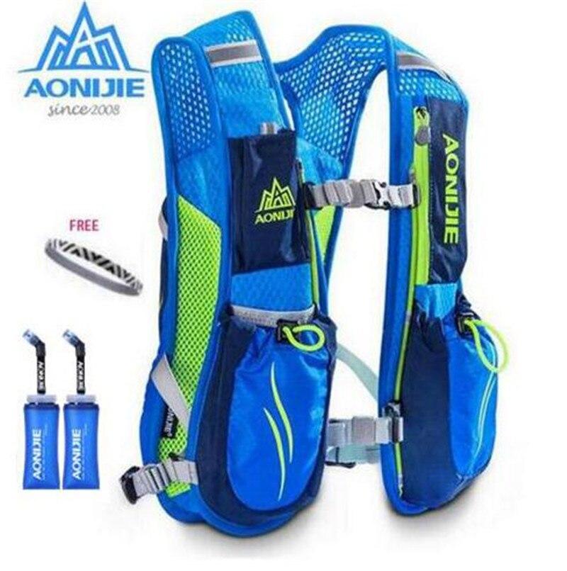 AONIJIE Running Marathon Hydration Backpack bernafas ringan sesuai - Beg sukan