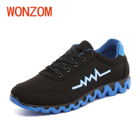 WONZOM New Arrivals Men Casual Shoes Spring Autumn Breathable Mesh Footwear For Adult 2018 Fashion Men