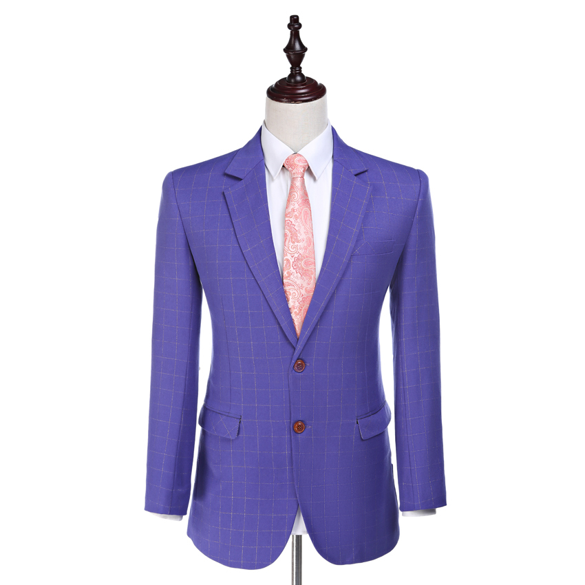 Rapture Damier Check Jacket Notched Lapel Groom Tuxedos Worsted Wool Bleiser Masculino As Man Clothes Custom Made Suit Jacket 1 Piece