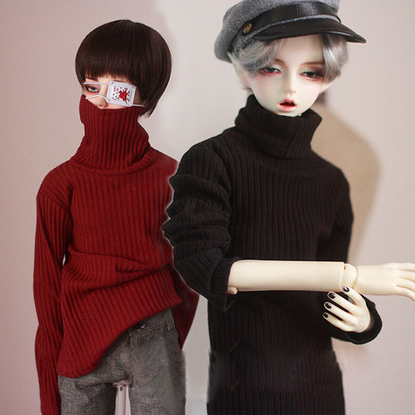 BJD doll colthes High collar lapel stripe pit striped sweater for 1/3 1/4 BJD DD SD MSD MDD SD17 Uncle SSDF2 clothes accessories