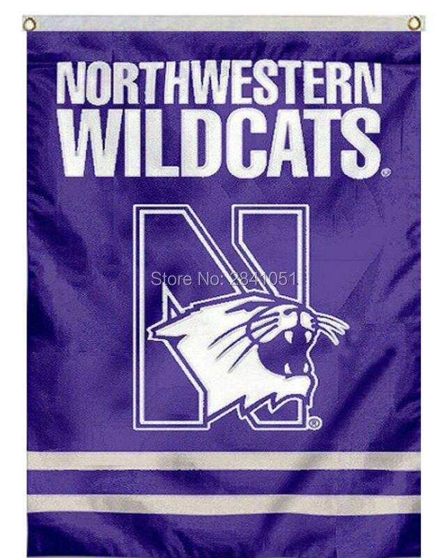 Northwestern Wildcats 3x5 Flag Banner Football Basketball University of