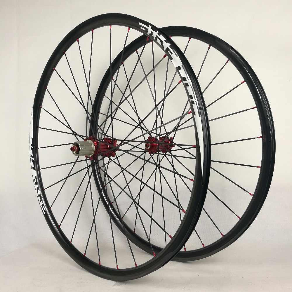 NOUVEAU!! Roues de vélo 27mm * 23mm 27.5er roues de carbone vtt 29er poids léger llanta carbono 29 avec moyeu haut de gamme