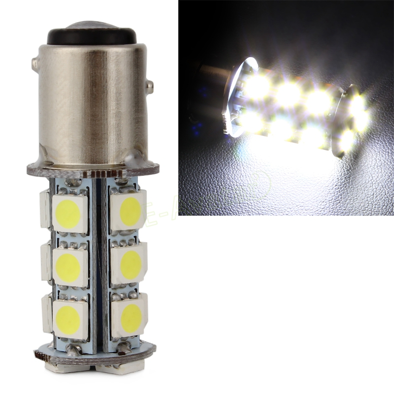 Pure BA15S White/Yellow 1157 5050 SMD 18 LED Car Auto Tail Brake Stop Signal Lights lamp Bulb DC 12V #EA10483 1 x t25 3157 50w led car auto signal brake stop tail light bulb signal lamp white external lights