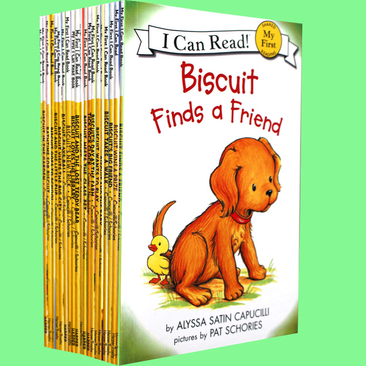 18 Books/set  Biscuit Series Picture Books I Can Read Children Story Book Early Educaction English Reading Book For Baby