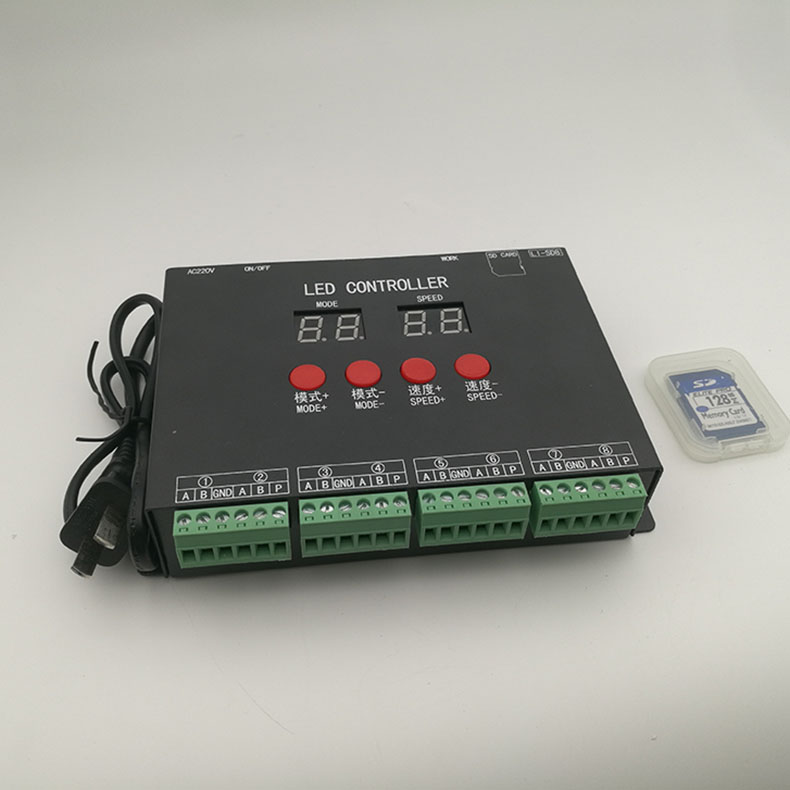 Led Pixel Light Controller 128 Sd Card Pixels Controller Ac220v Inputfor Ws2801 Ws2811 Ws2812b Led Load 4096 Pixel Led Controler Rgb Controlers Aliexpress