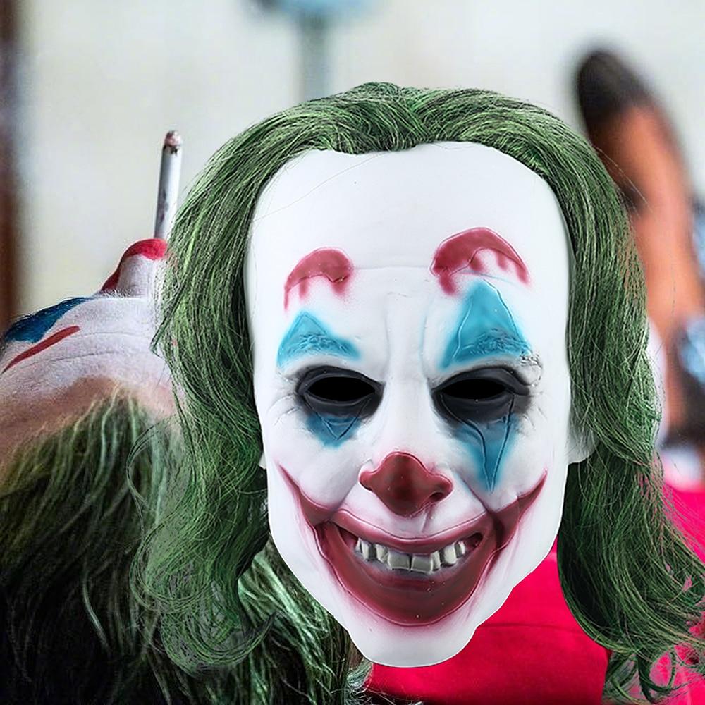 2019 Joker Mask Cosplay Movie Horror Scary Smile Evil Clown Halloween Mask Latex